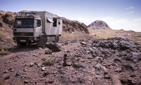 Camping in Morocco in truck