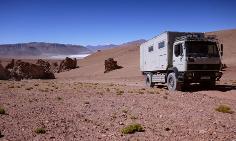 High altitude desert driving in Bolivia