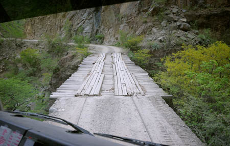 Overland driving Copper Canyon Mexico