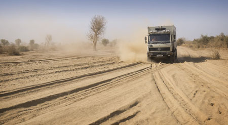 dusty african roads