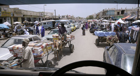 Mauritania traffic jam