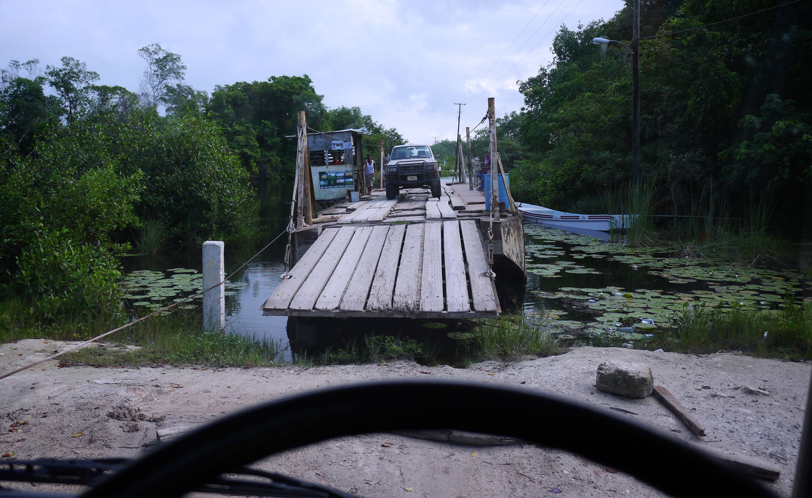 Belize river crossing