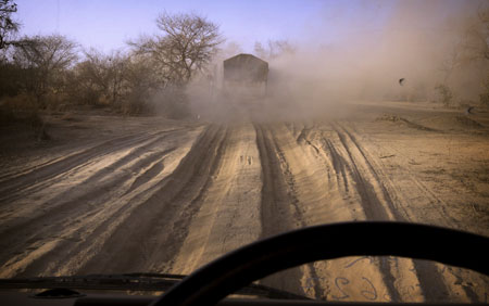dusty african roads in Mali
